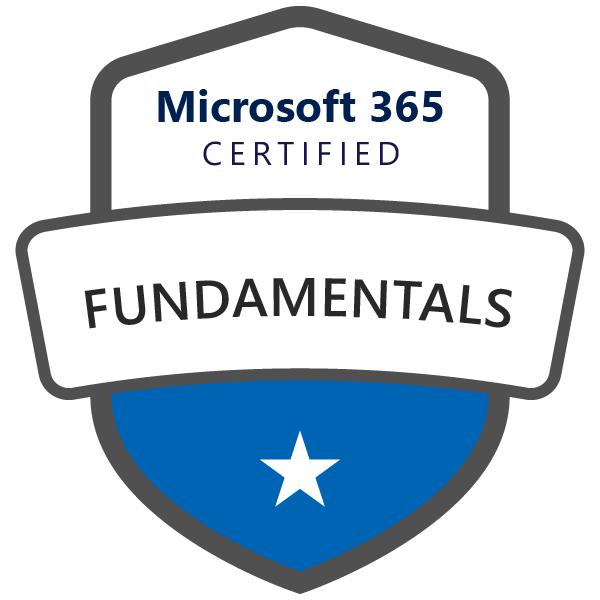 Microsoft 365 Fundamental Certification badge